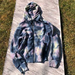 Spiritual Gangster Tie Dye Zip Hoodie